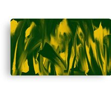 Green and Yellow Oil paint Canvas Print