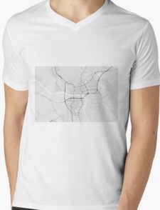 Bratislava, Slovakia Map. (Black on white) Mens V-Neck T-Shirt