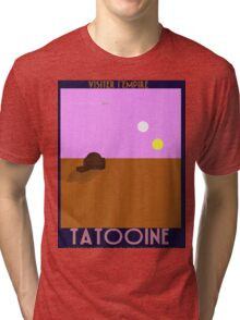 Star Wars - Visit Tatooine - 1930s poster style Tri-blend T-Shirt