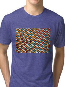 Sunset in abstract stained glass Tri-blend T-Shirt