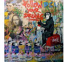 Follow your dreams - graffiti design Photographic Print