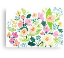Watercolor Florals Metal Print