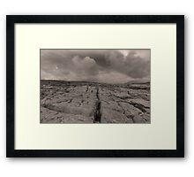 The unique landscape of the Burren Framed Print