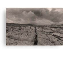 The unique landscape of the Burren Canvas Print