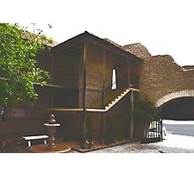 Secluded Courtyard in Downtown Las Cruces,NM Photographic Print