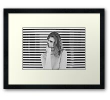 B&W fashion  Framed Print
