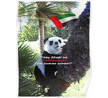 Panda-Souvenir direkt aus Abu Dhabi - ohne das Haus zu verlassen! Poster