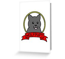 wolfpupy logo Greeting Card