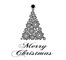 Merry christmas - minimalistic design by MartinCapek