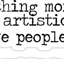 Vincent Van Gogh Typewriter Quote Sticker