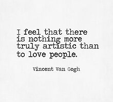 Vincent Van Gogh Typewriter Quote by hopealittle