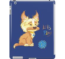 Сute redhead shaggy puppy iPad Case/Skin