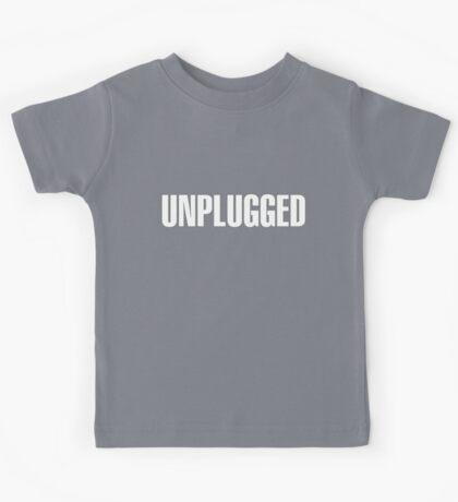 Unplugged White  Kids Tee