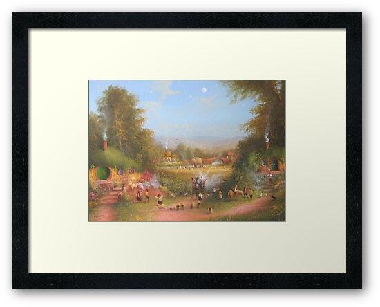 Gandalf's Return Fireworks In The Shire oil on canvas   by Joe Gilronan