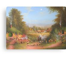 Gandalf's Return Fireworks In The Shire oil on canvas   Canvas Print