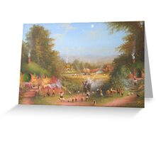 Gandalf's Return Fireworks In The Shire oil on canvas   Greeting Card