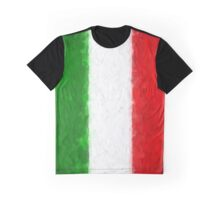 Green White and Red Graphic T-Shirt