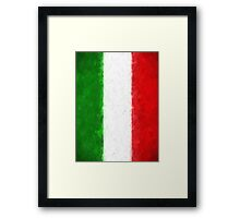 Green White and Red Framed Print