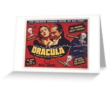 Dracula 1931 Movie Poster Greeting Card