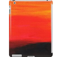 Red landscape minimal and abstract iPad Case/Skin