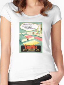 New Zealand Vintage Advertising Poster Women's Fitted Scoop T-Shirt