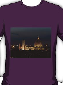 Basilica of Saint Mary of the Flower at Night T-Shirt