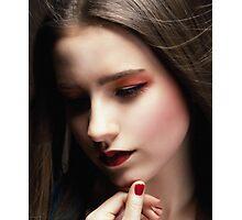 Beautiful woman face  Photographic Print