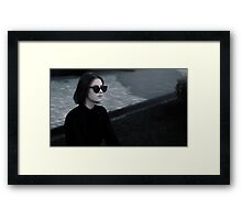photo of beautiful girl is in style of R&B Framed Print