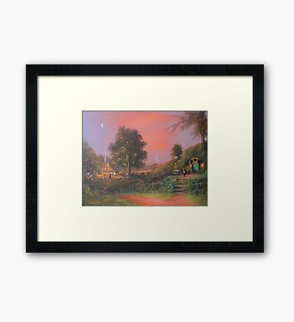 A Party Under The Tree. Framed Print