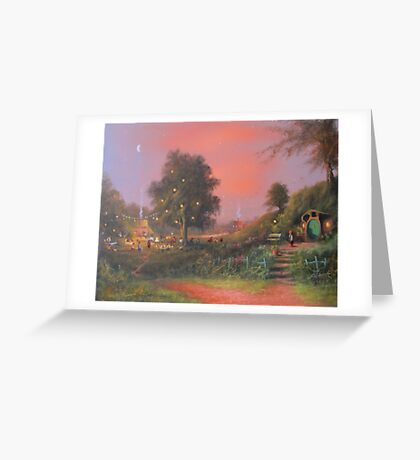 A Party Under The Tree. Greeting Card