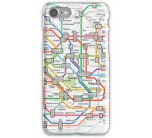 tokyo underground map iPhone Case/Skin