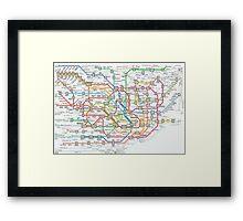 tokyo underground map Framed Print