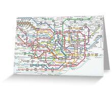 tokyo underground map Greeting Card