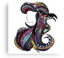 Stain Glass Ariel Canvas Print