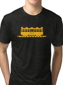 Animal Crossing train (large) Tri-blend T-Shirt