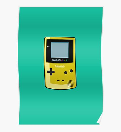 Game Boy Color Yellow Poster