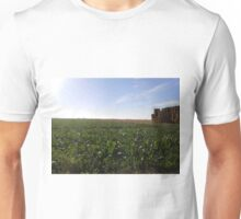 Stacked Hay Bales in Field Unisex T-Shirt