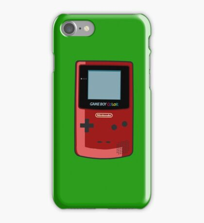 Game Boy Color Red iPhone Case/Skin
