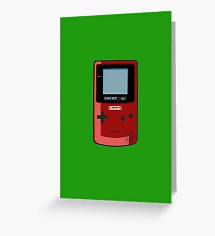 Game Boy Color Red Greeting Card