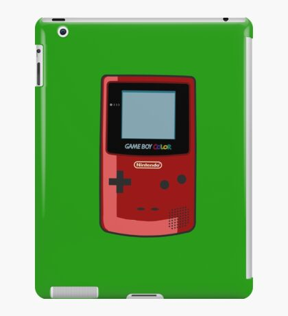 Game Boy Color Red iPad Case/Skin