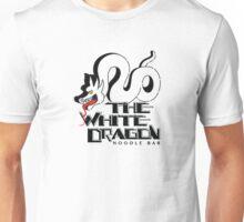 White Dragon - Black Outline Variant Unisex T-Shirt
