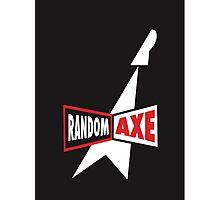 Random Axe Retro Logo Photographic Print