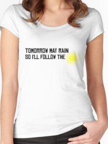 I'll Follow The Sun The Beatles 60s Rock Music Song Lyrics Women's Fitted Scoop T-Shirt