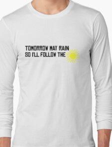 I'll Follow The Sun The Beatles 60s Rock Music Song Lyrics Long Sleeve T-Shirt