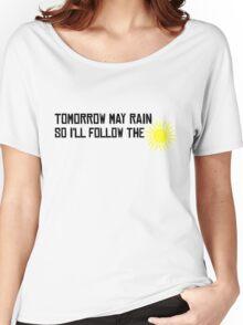 I'll Follow The Sun The Beatles 60s Rock Music Song Lyrics Women's Relaxed Fit T-Shirt
