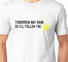I'll Follow The Sun The Beatles 60s Rock Music Song Lyrics Unisex T-Shirt