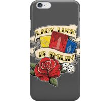 Twisted Fate tattoo style iPhone Case/Skin
