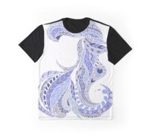 Ariel Pastel Blue Stain Glass Graphic T-Shirt
