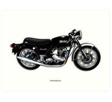 Norton Commando illustrations by Anthony Armstrong Art Print