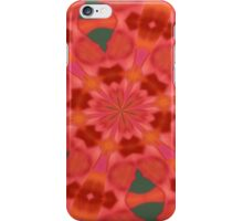 Succulent Red and Yellow Flower Abstract 3 iPhone Case/Skin